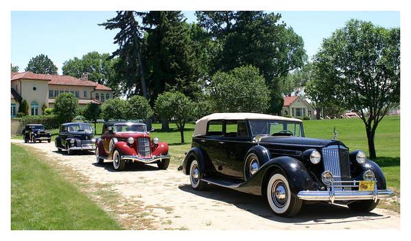 1937 Packard 12 1508 Convertible Sedan Poster featuring the photograph Classy Classics by Jack Pumphrey