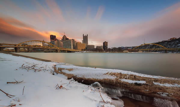 Allegheny Poster featuring the photograph Cold Sunset by Jennifer Grover