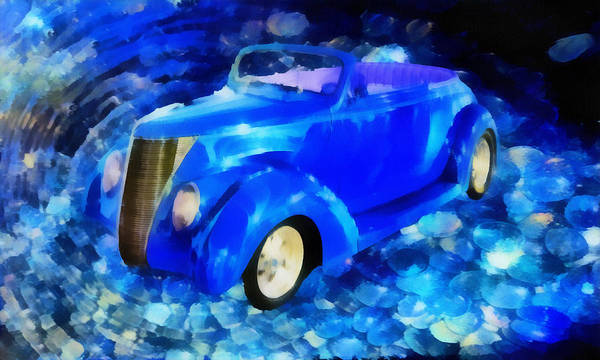Customized Cars Poster featuring the mixed media Custom Car by Joseph Hollingsworth