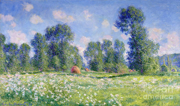Effect Of Spring Poster featuring the painting Effect Of Spring At Giverny by Claude Monet