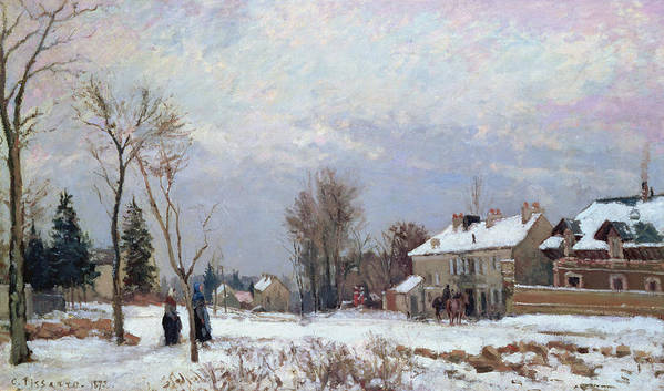 Road From Versailles To Saint-germain Poster featuring the painting Effects Of Snow by Camille Pissarro