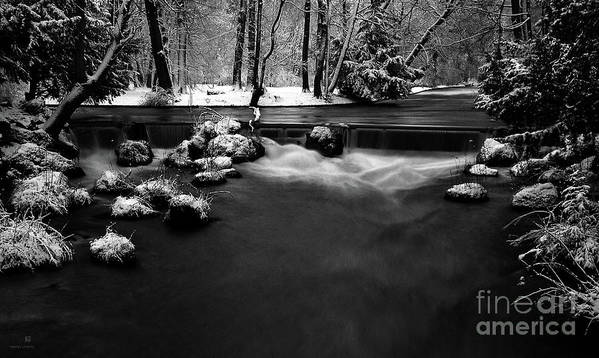 Creek Poster featuring the photograph Eisbach In The Winter by Hannes Cmarits