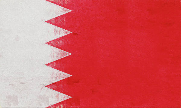 Arab Poster featuring the digital art Flag Of Bahrain Grunge by Roy Pedersen
