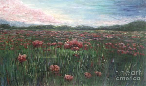 France Poster featuring the painting French Poppies by Nadine Rippelmeyer