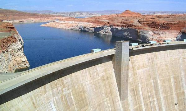 Glen Canyon Dam Poster featuring the photograph Glen Canyon Dam by Will Borden
