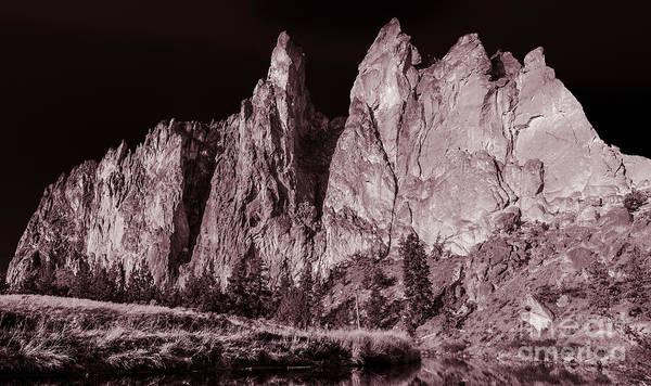 Landscape Poster featuring the photograph Going Dark #3 Monolith by Adam Reisman