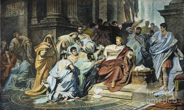 Julius Caesar 100 44 B C Poster By Granger