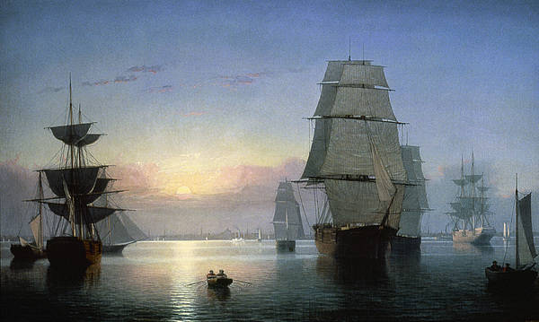 1850s Poster featuring the photograph Lane: Boston Harbor by Granger