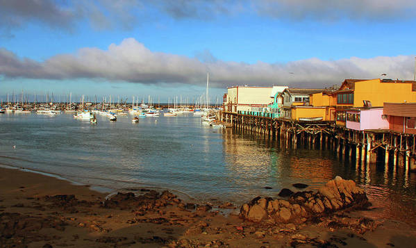 Monterey Poster featuring the photograph Monterey Wharf by Janine Moore