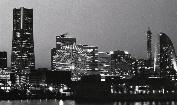 Horizontal Poster featuring the photograph Night Scene Of Yokohama by Snap Shooter jp