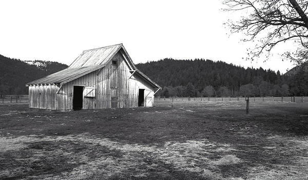 Barns Poster featuring the photograph Shasta Barn by Kathy Yates