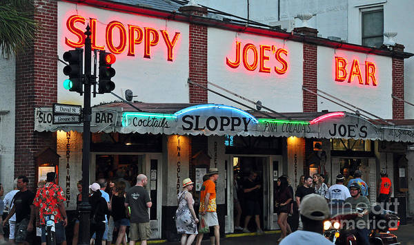 Key West Florida Poster featuring the photograph Sloppy Joe's Bar by Davids Digits
