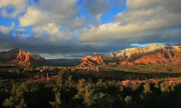 Sedona Poster featuring the photograph Soldier Pass Sunset by Gary Kaylor