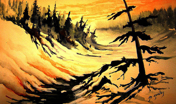 Sunset Extreme Poster featuring the painting Sunset Extreme by Joanne Smoley