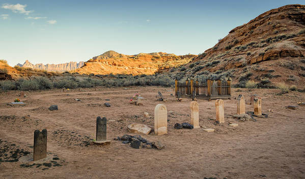 Grafton Utah Poster featuring the photograph The Old Cemetary by Mitch Johanson
