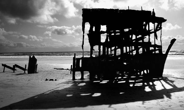 Shipwreck Poster featuring the photograph The Wreckage Of The Peter Iredale II by Todd Fox