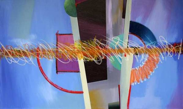Abstract Poster featuring the painting Untitled by Marston A Jaquis