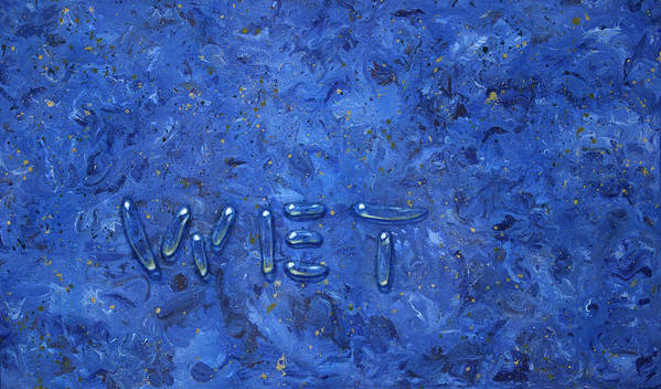 Wet Poster featuring the painting WET by James W Johnson