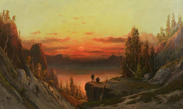 Frederick Schafer Poster featuring the painting Last Light Of The Day by Frederick Schafer