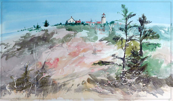 Monhegan Poster featuring the painting Monhegan Autumn by J R Baldini