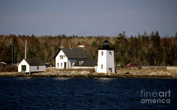 Lighthouses Poster featuring the photograph Grindel Point Lighthouse by Skip Willits