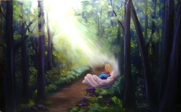 Landscape Poster featuring the painting In God's Hand by Connie Townsend