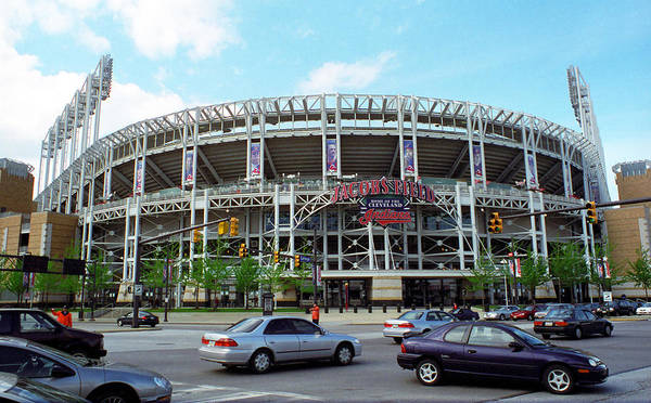 America Poster featuring the photograph Jacobs Field - Cleveland Indians by Frank Romeo
