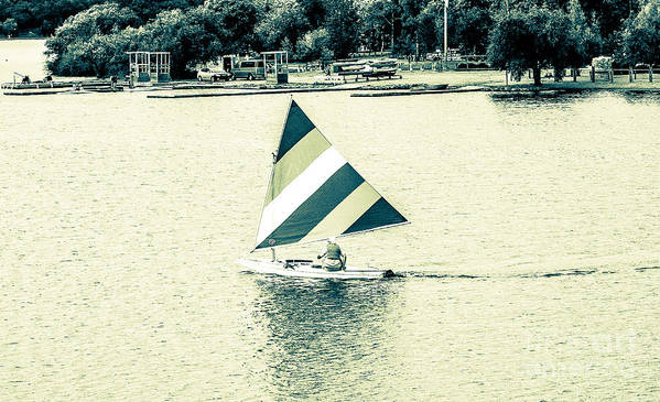 Lak Sail Poster featuring the photograph Wascana-20 by David Fabian