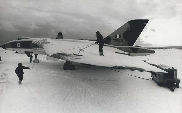 retro Images Archive Poster featuring the photograph White Christmas Guaranteed For The Raf At Goose Bay by Retro Images Archive