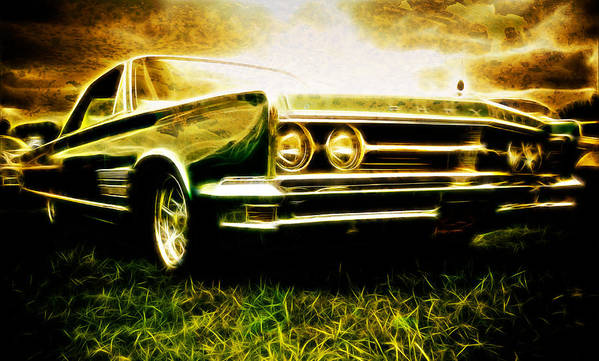 Chrysler 300 Poster featuring the photograph 1966 Chrysler 300 by Phil 'motography' Clark