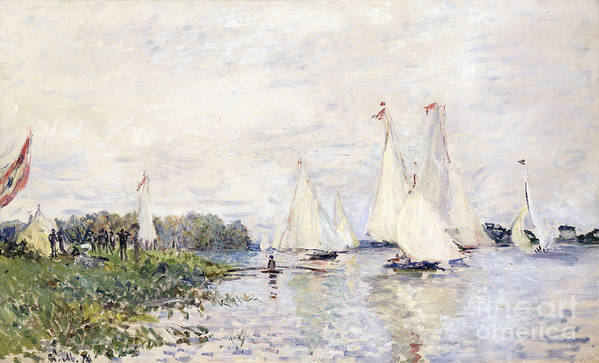 1870s Poster featuring the painting Regatta At Argenteuil by Claude Monet