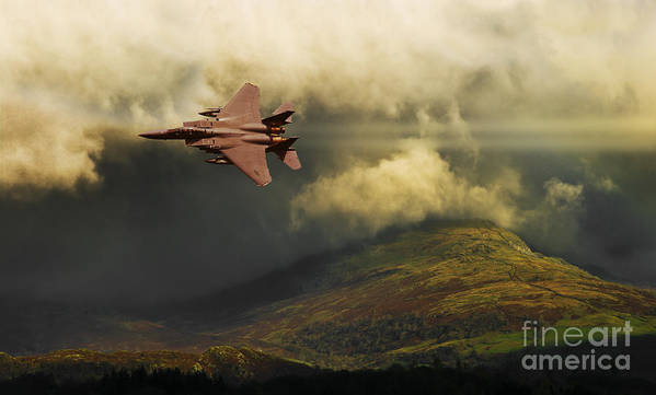 F-15 Poster featuring the photograph An Eagle Over Cumbria by Meirion Matthias