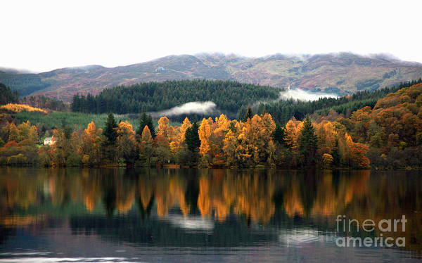Loch Ard Poster featuring the photograph Autumn Reflections On Loch Ard by David Cairns