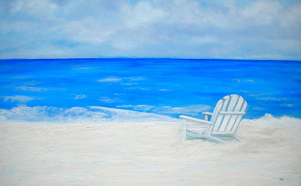 Beach Escape Poster featuring the painting Beach Escape by Debi Starr