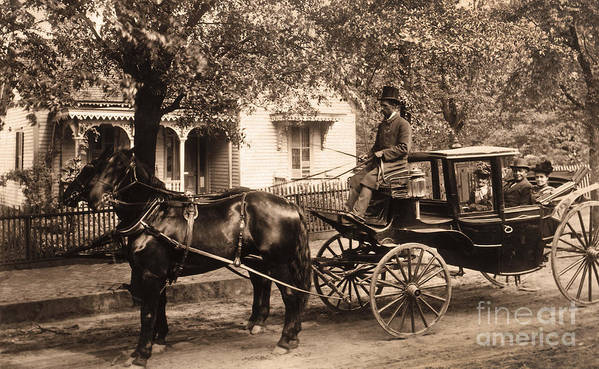 Horse Poster featuring the photograph Black Family In Buggy by Paul W Faust - Impressions of Light