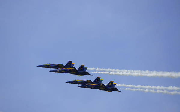 Blue Angels Poster featuring the photograph Blue Angels 9 by Laurie Perry