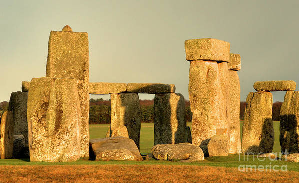 England Poster featuring the photograph Eerie Stonehenge 4 by Deborah Smolinske