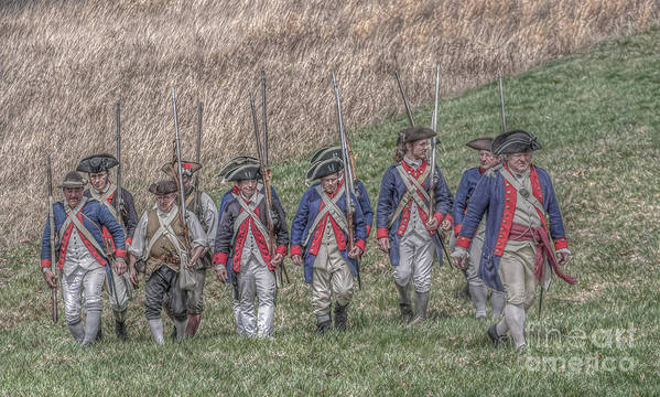 Revolutionary War Poster featuring the digital art Field Of Honor American Revolution by Randy Steele
