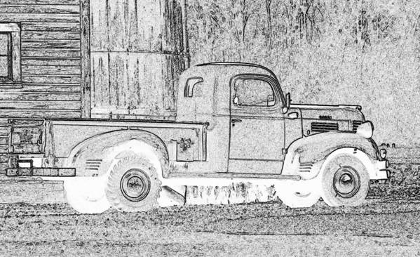 Truck Poster featuring the photograph Ghost Of A Truck by Jean Noren
