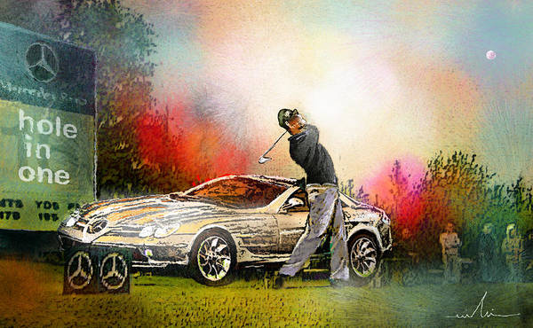 Golf Poster featuring the painting Golf In Gut Laerchehof Germany 03 by Miki De Goodaboom