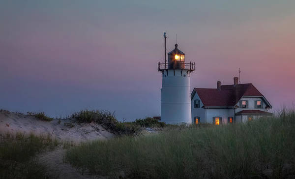 Race Point Light Poster featuring the photograph Last Light by Bill Wakeley