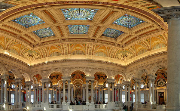 Washington Poster featuring the photograph Library Of Congress - Washington Dc - 011322 by DC Photographer