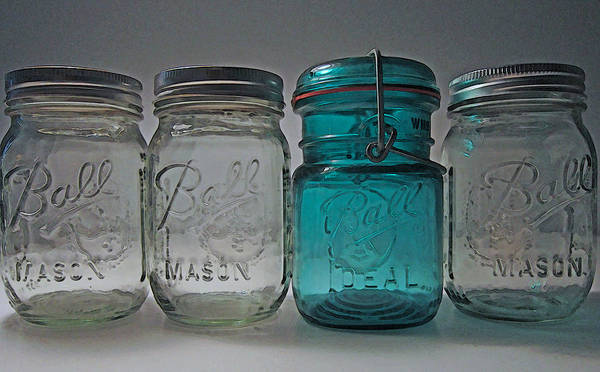 Ball Jar Poster featuring the photograph One Is Different by Mary Bedy