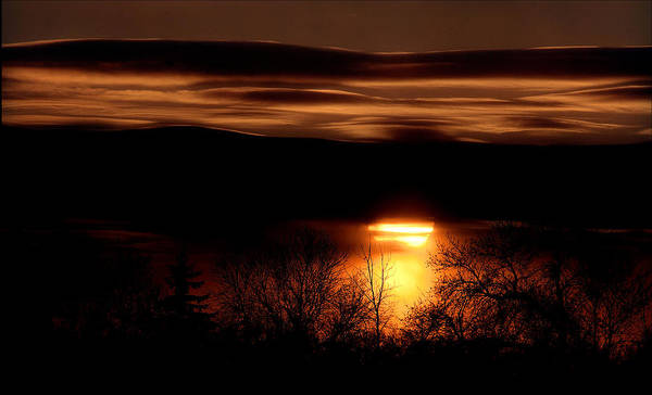 Sunset Poster featuring the photograph Prairie Sunset by Bruce Crummy
