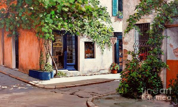 French Landscape Poster featuring the painting Provence Antiques by Michael Swanson