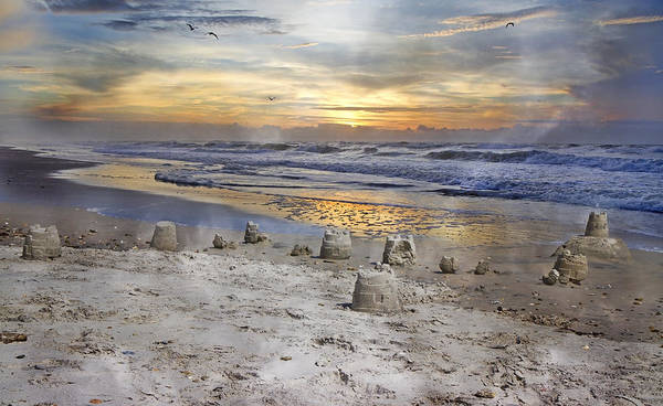Topsail Poster featuring the photograph Sandcastle Sunrise by Betsy Knapp