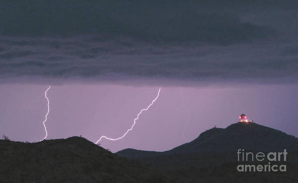 Lightning Poster featuring the photograph Seven Springs Lightning Strikes by James BO Insogna