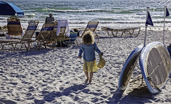 Summer Poster featuring the photograph Simpler Times 2 - Miami Beach - Florida by Madeline Ellis