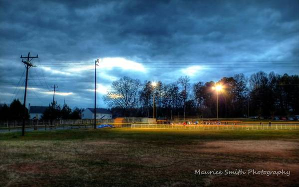 Landscape Poster featuring the photograph Softball Night At Matthews Elementary School by Maurice Smith