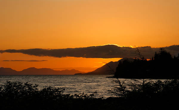 Landscape Poster featuring the photograph Southeast Alaska Sunset by Michael J Bauer